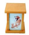 cão de madeira urn da cremação para animais de estimação uns