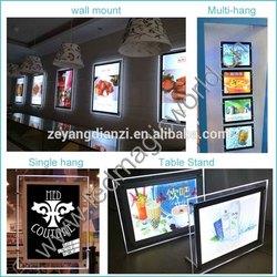 Logo Display Acrylic Material Edge-Lit Advertising LED Crystal Light Frame