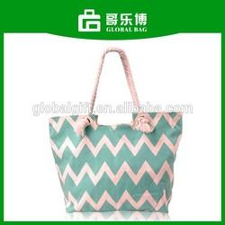 Chevron Canvas Shopping Tote Bag
