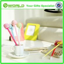 lollipop shape stationery kid's gift ball pen
