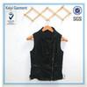 Wholesale black leather sleeveless summer riding jacket