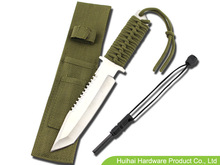OEM stainless steel survival knife 11in Overall