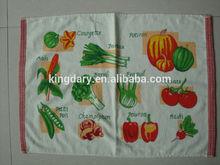 100%Cotton kitchen paper towel roll vegetable designs