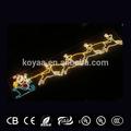 Led decoraciones de navidad navidad light up decoración de la pared