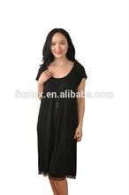 95% viscose 5% elastane women nightwear gown/sexy sleepwear