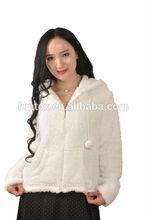 100% polyester corn fleece women nightwear/jacket/sleepwear