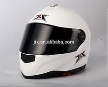 2014 DOT/ECE New full face with double visor helmet JX-FF009 gloss white