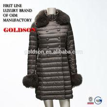 2015 Russian long goose down coat for Russian girls sexy fur coat