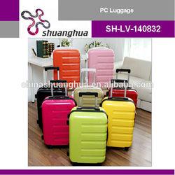 2015 beautiful trolley luggage/ abs pc luggage