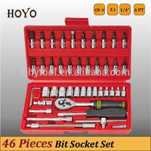 "1/4"" Dr.46PCS Socket Set/High Quality Bits Box Spanner Socket Set"