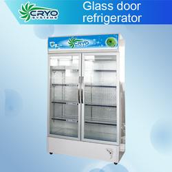Cold drink refrigerator , Upright glass door refrigerator , glass door fridge