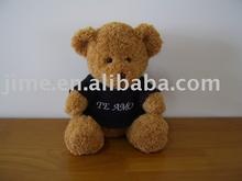 JM6549 stuffed teddy bear with T-shirt