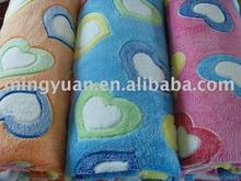 stock soft coral fleece blanket