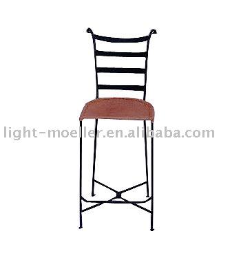 Forjado de hierro silla de la barra silla de metal - Sillas en hierro forjado ...