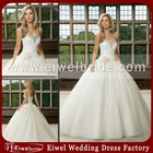 W35 2013 Inexpensive New Style Sweetheart Beaded Tulle Ball Gown Wedding Dress