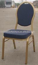 aluminum frame stack leisure metal steel frame banquet hotel chair