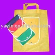 Non woven/nylon folded tote shopping bags