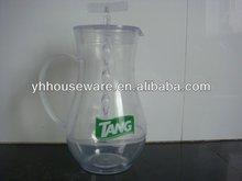 Plastic transparent pitcher with mixer