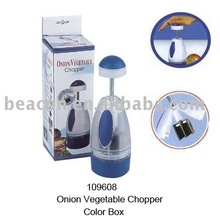 Manual onion vegetable chopper