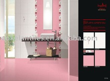 Bathroom pink ceramic wall tile