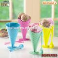 Venda quente mais popular colorido melamina sorvete copo