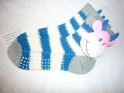 children's witner knitted long slippers socks