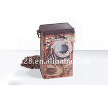 Airtight lock tea tin box