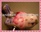 Colorful Painted Decorative Bird Shape Ceramic Crafts Light