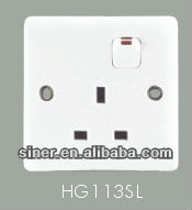 hager 13A electrical switch socket with neon pc plate