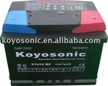 Professional Calcium Sealed Free Maintenance Auto Battery with DIN Standard-57412MF
