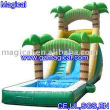 green water slide/palm tree slide/inflatable water slide