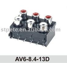 China supplier RCA jack (AV6-8.4-13D) made in china