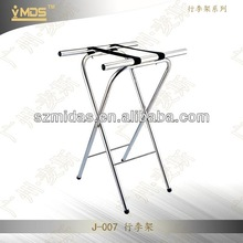 J-007 Hot Selling Stainless steel Folding Luggage Tray Stands