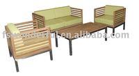 WF1251 garden teak and stainless steel sofa set