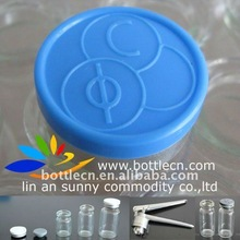 bottle cap top closure, 20mm logo printed flip off seal/aluminium lids producers, for testosterone