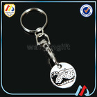 Supermarket trolley coin keyring stamped coins