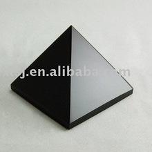 Natural Rock Obsidian Pyramid