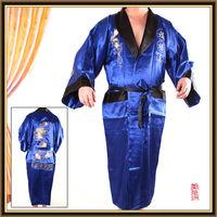 Factory supply 2015 brand new reversible silk kimono robe