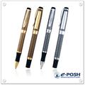 Luxo cap-off metal dourado caneta conjunto