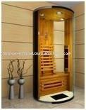 black glass MINI infrared sauna room 05-K1 with CE EMC TUV certification