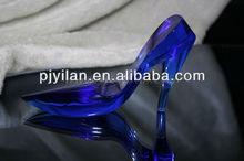 elegant crystal shoes figurines glass shoe favor crystal wedding shoe