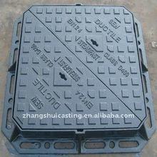 EN124 D400 Ductile iron GJS500-7 hinged triangle manhole cover