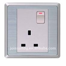 3-feet square wall socket with 1 gang switch (LI11C3F)