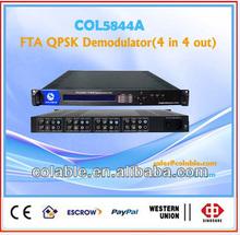 fta digital satellite receiver (4 in 4 out), free ird decoder, qpsk decoder, descrambler