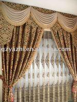 luxury European style Jaquard Window Curtains/ Drapes