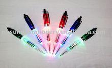 2015 New design plastic promotional gift multi clolor light up pen led light pen