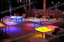 sahnghai wholesale nightclub acrylic LED illuminated lounge coffee table