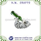 Polyresin animal tiger wine holder gift craft