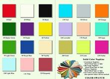color napkin paper