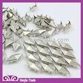 de metal de plata facetas del diamante stud nailhead con la garra dientes para los zapatos